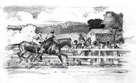 A horse race at Hampton