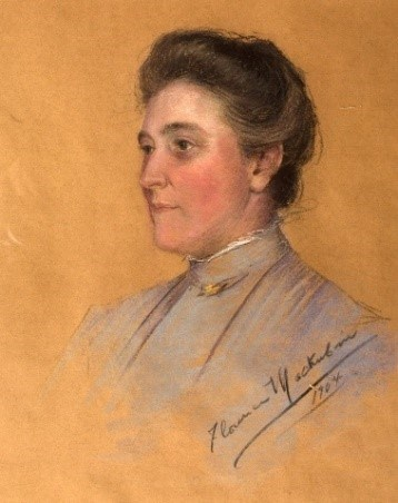 A painting of Helen West Stewart Ridgely.