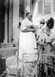Nancy Davis was born a slave in 1838. She chose to stay on as a servant after she received her freedom.