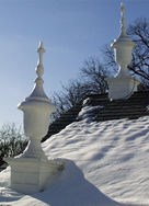 finials in the snow