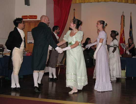 Dancing in the Great Hall of Hampton Mansion