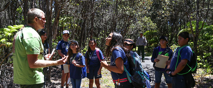 Keiki on a species inventory during the 2015 BioBlitz