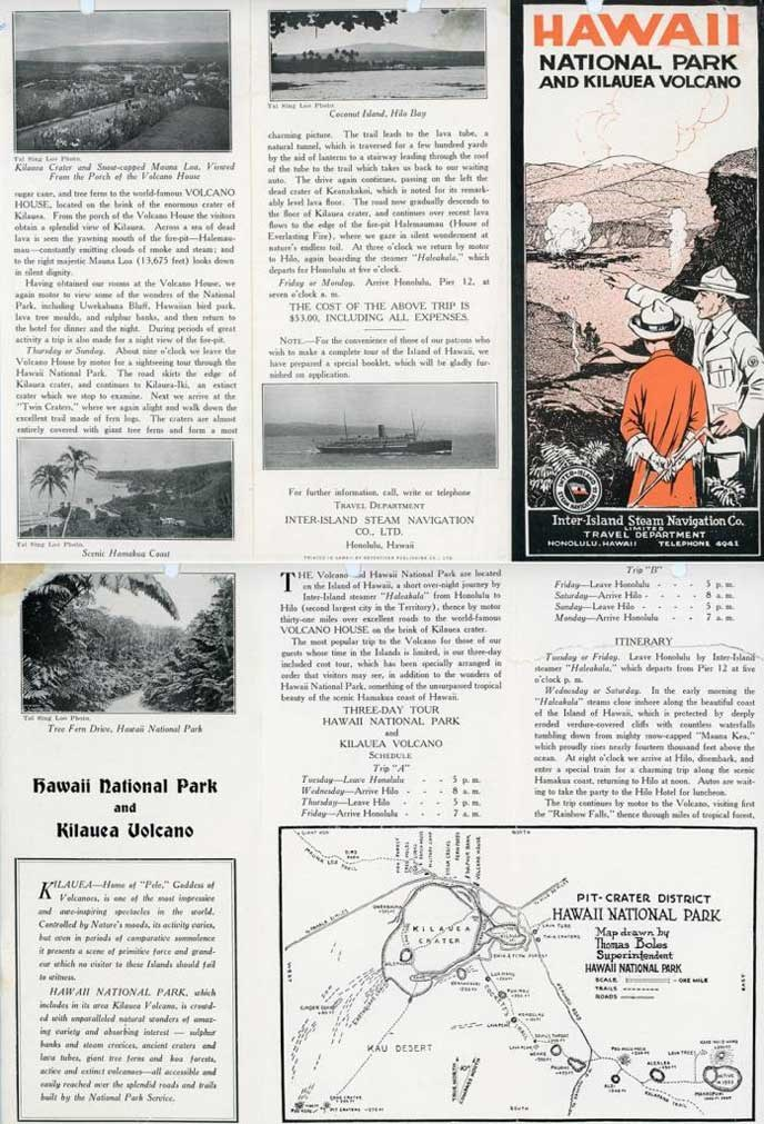 National Park and Kilauea Volcano publication