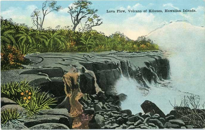 lava flow postcard