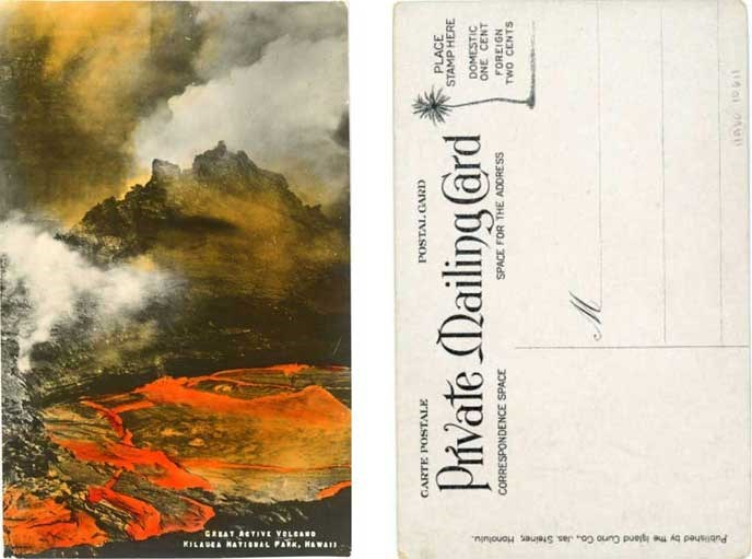Great Active Volcano postcard