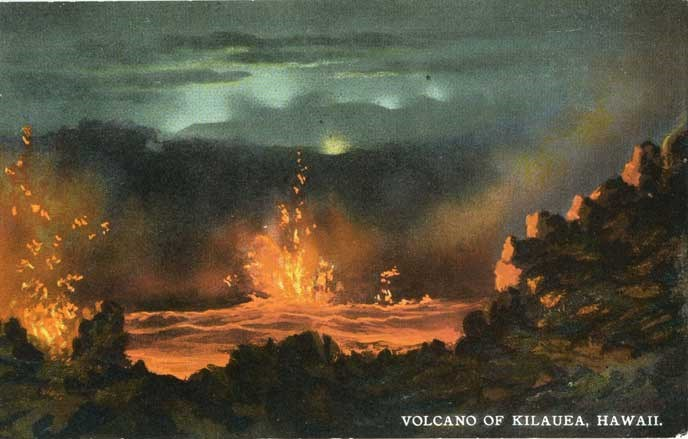Volcano of Kilauea postcard