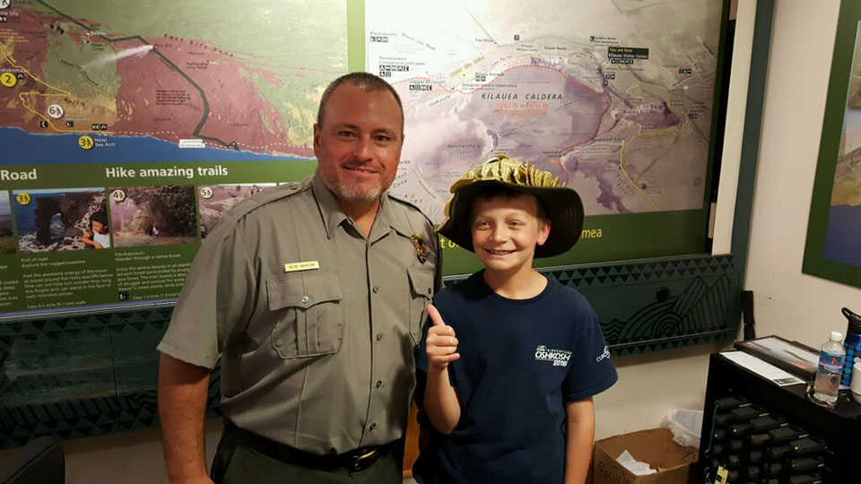 11 1/2 year old Brady from Indiana is a Junior Ranger from 63 (now 64) National Parks