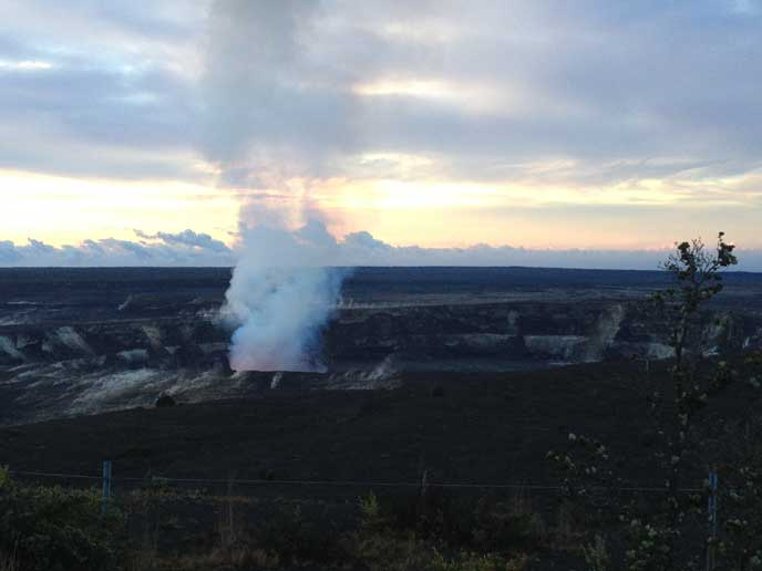 Halema'uma'u Crater at Sunrise