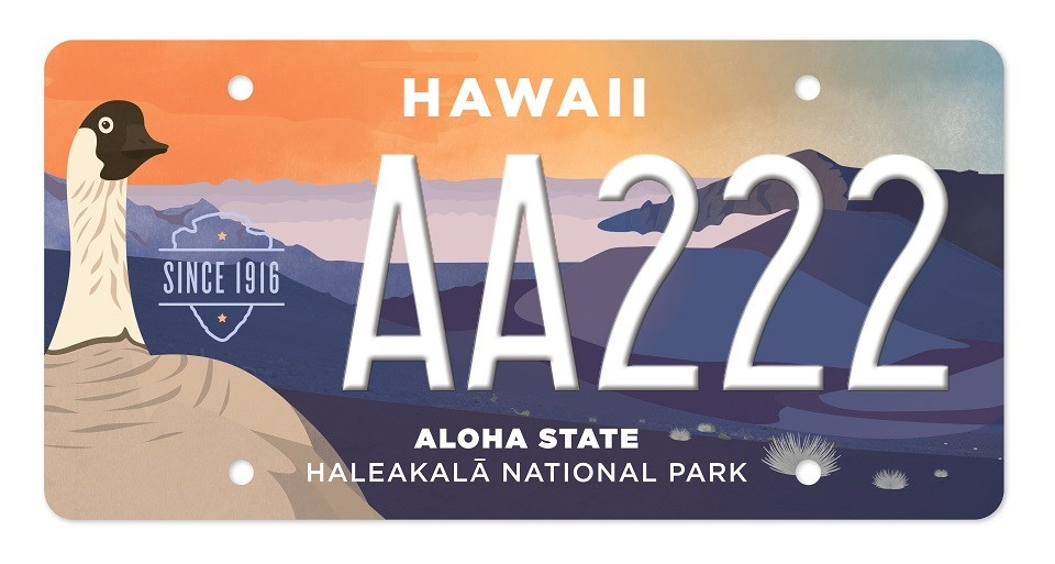 New Haleakalā specialty plate features nēnē goose