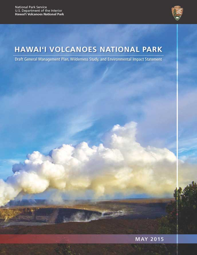 Cover of Hawai'i Volcanoes National Park Draft General Management Plan, Wilderness Study & Environmental Impact Statement