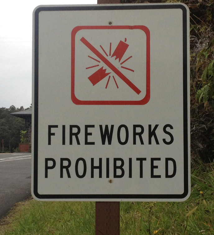 Fireworks Prohibited sign