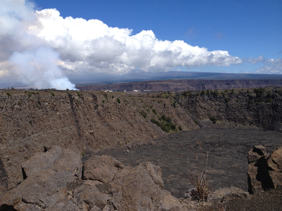 Keanakako'i Crater viewed from Crater Rim Trail