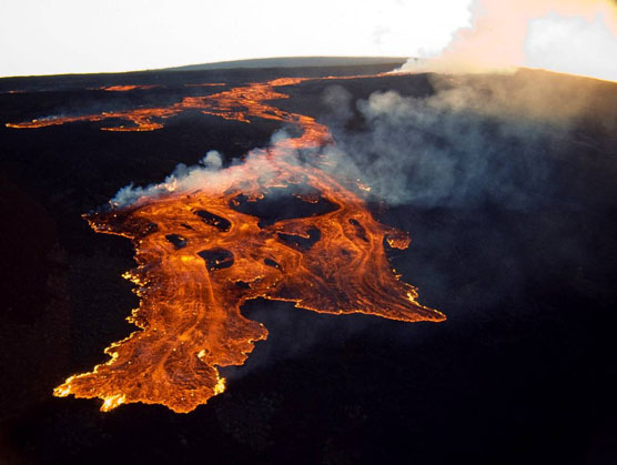 Mauna Loa flow on March 25, 1984