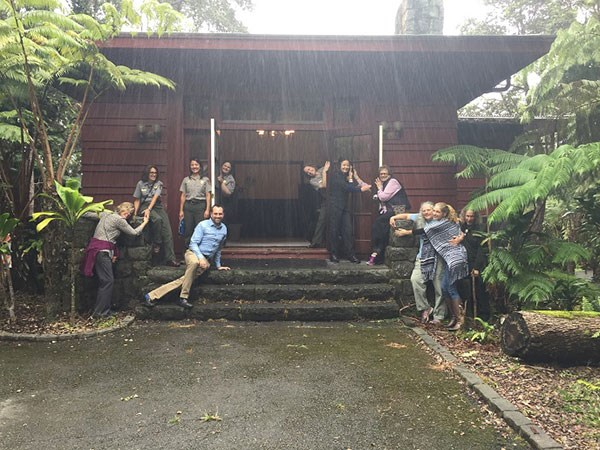 Embracing the new museum -- the former 1932 Administration Building and formerly a lodging facility called the 'Ōhi'a Wing will soon be a new park museum