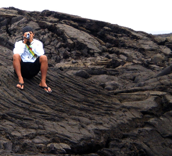 Student filmmaker zooms in on lava