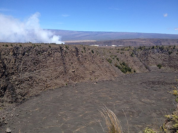 Join a guided hike to the edge of Keanakāko'i Crater