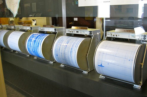 Seismographs at Hawaiian Volcano Observatory