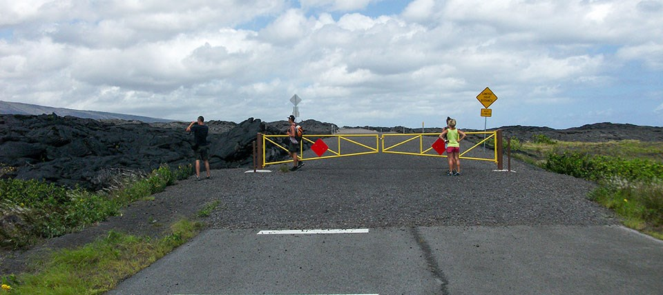 End of Chain of Craters Road after construction