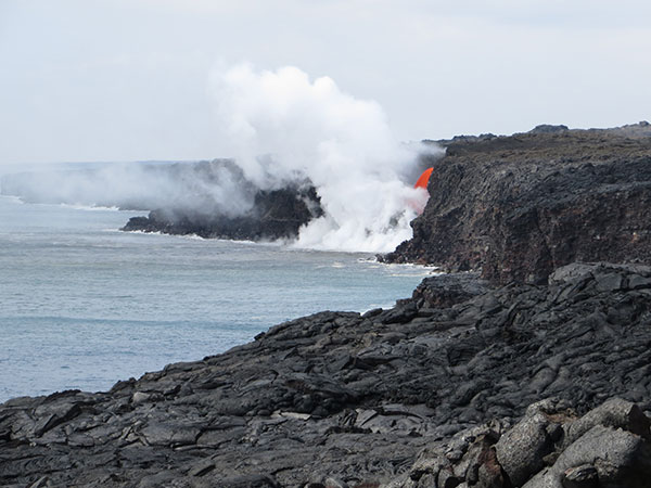 """Firehose flow"" visible from public lava viewing area"