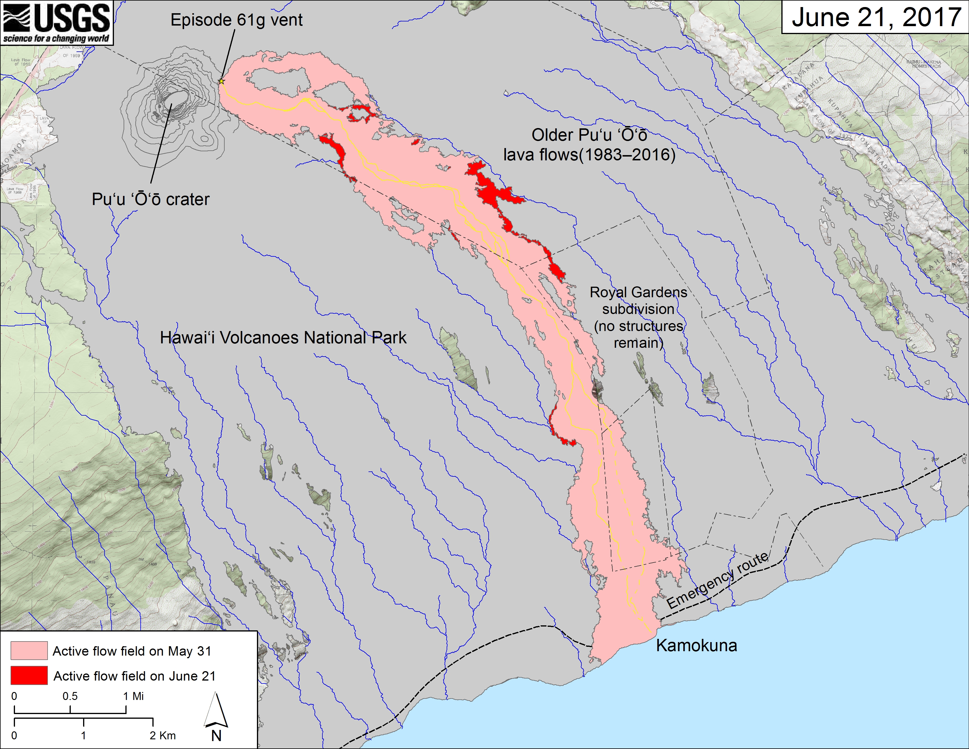 Whats Going On With The Volcano Hawaii Volcanoes National - Volcanoes in usa map