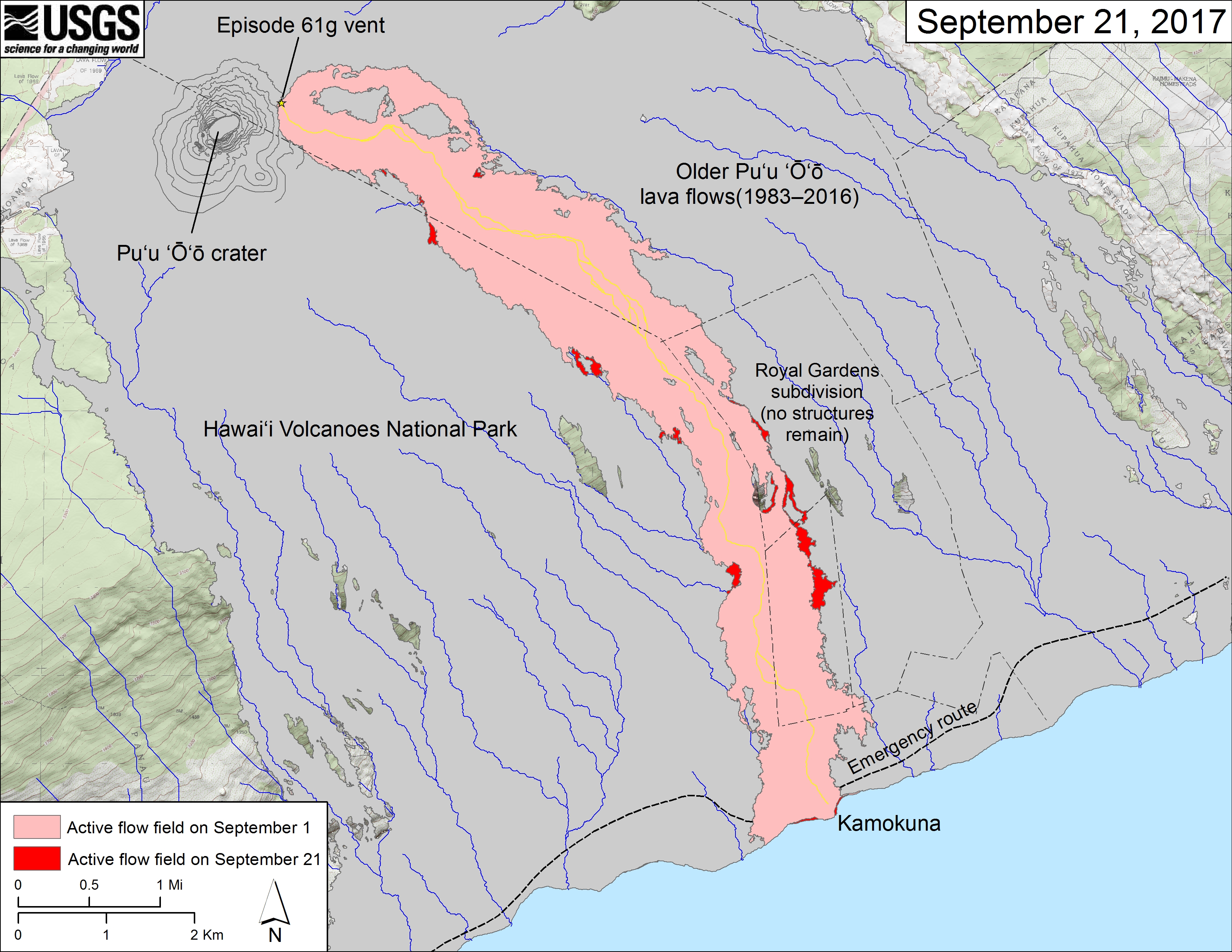 Whats Going On With The Volcano Hawaii Volcanoes National - Map active volcanos in us
