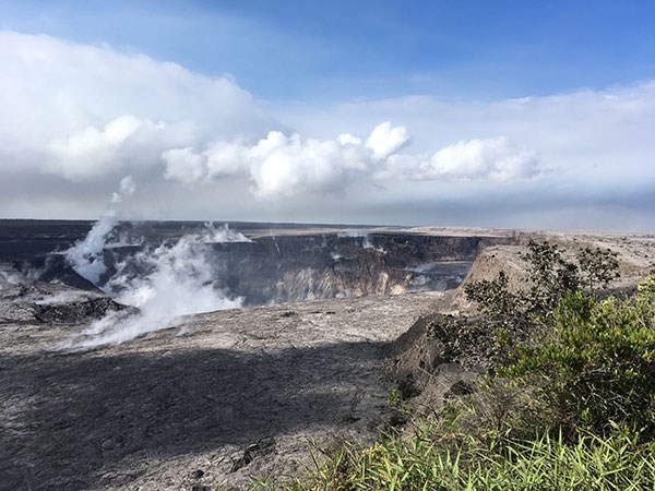 Halema'uma'u Crater continues to subside and enlarge