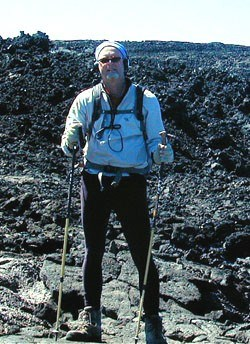 Dave hiking the Mauna Loa Observatory Trail