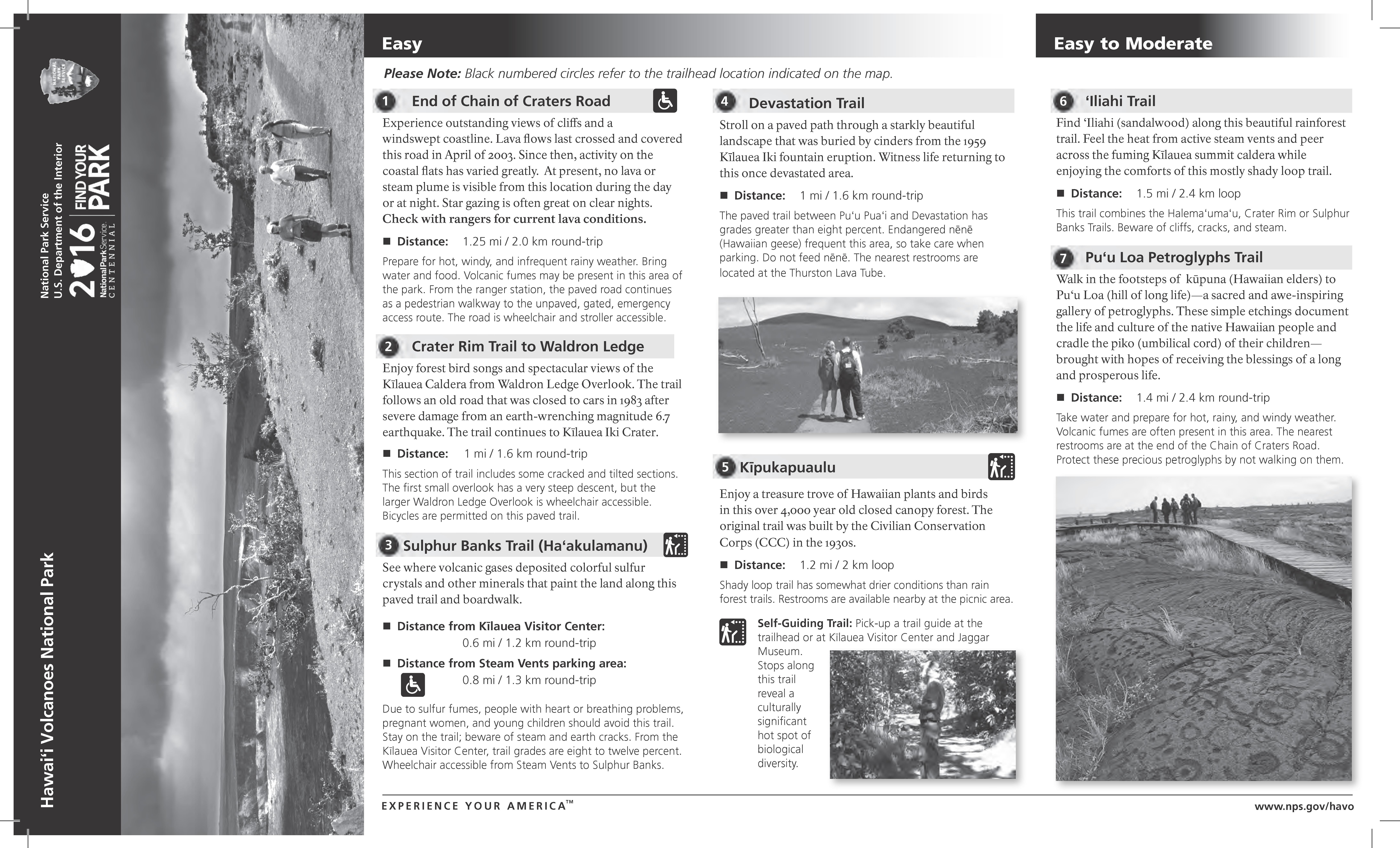 brochures hawai i volcanoes national park u s national park service