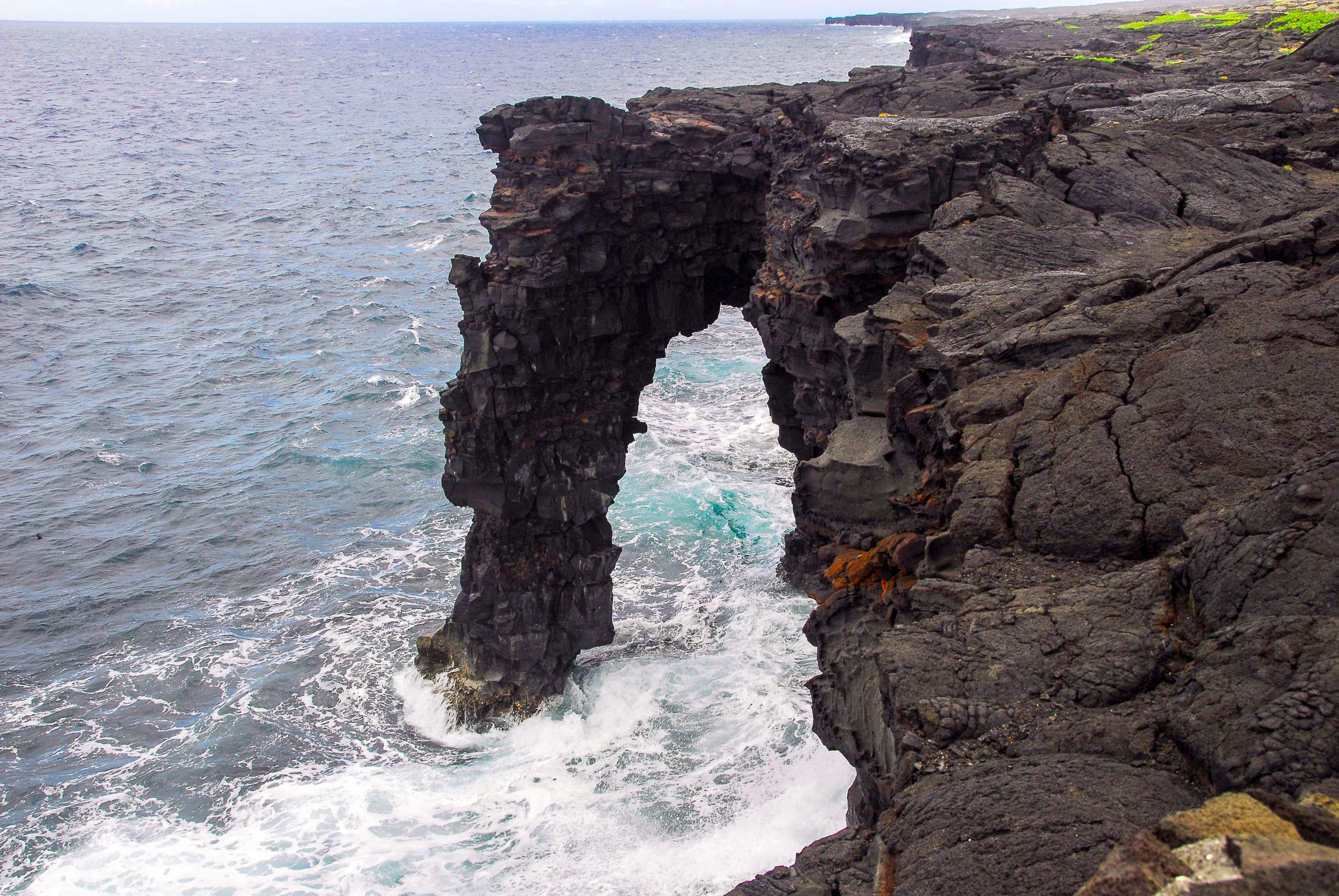 Hōlei Sea Arch Hawai I Volcanoes National Park U S