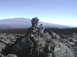 View of Mauna Loa from the trail