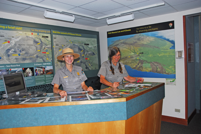 Kīlauea Visitor Center Information Desk