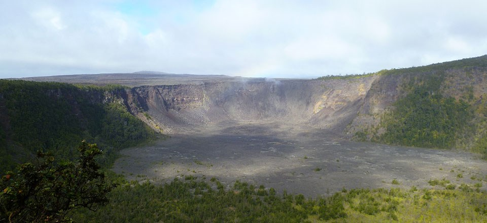 Makaopuhi Crater on the Way to Nāpau