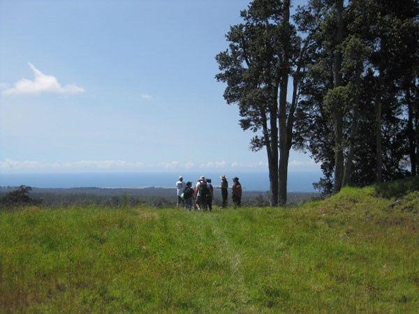 People hiking at Kahuku