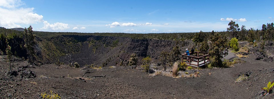 Viewing Pauahi Crater