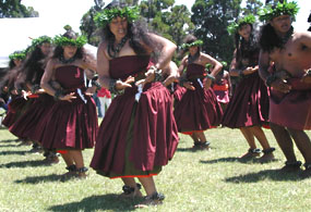 halau o kekuhi - dancers perform a hula