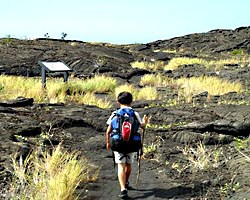 Zane starts his hike at Pu'uloa trailhead