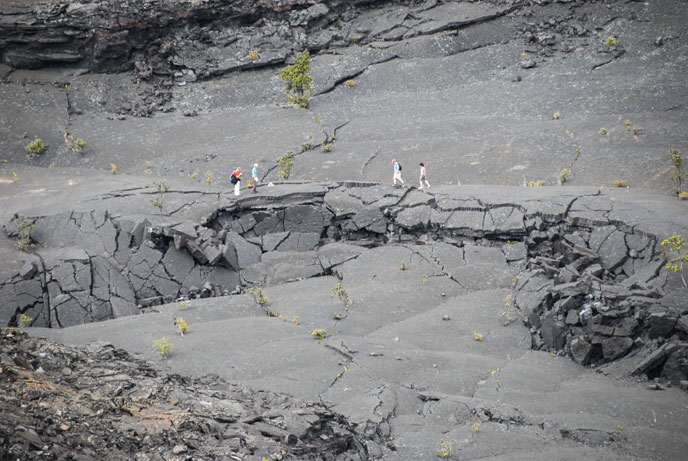 Hiking in Kīlauea Iki Crater