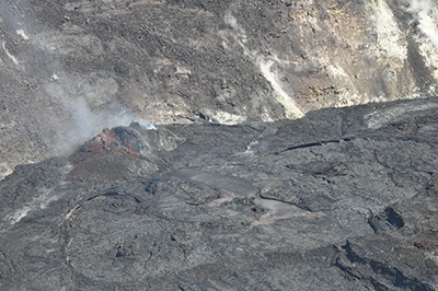 Active lava lake within summit crater of Kīlauea volcano.