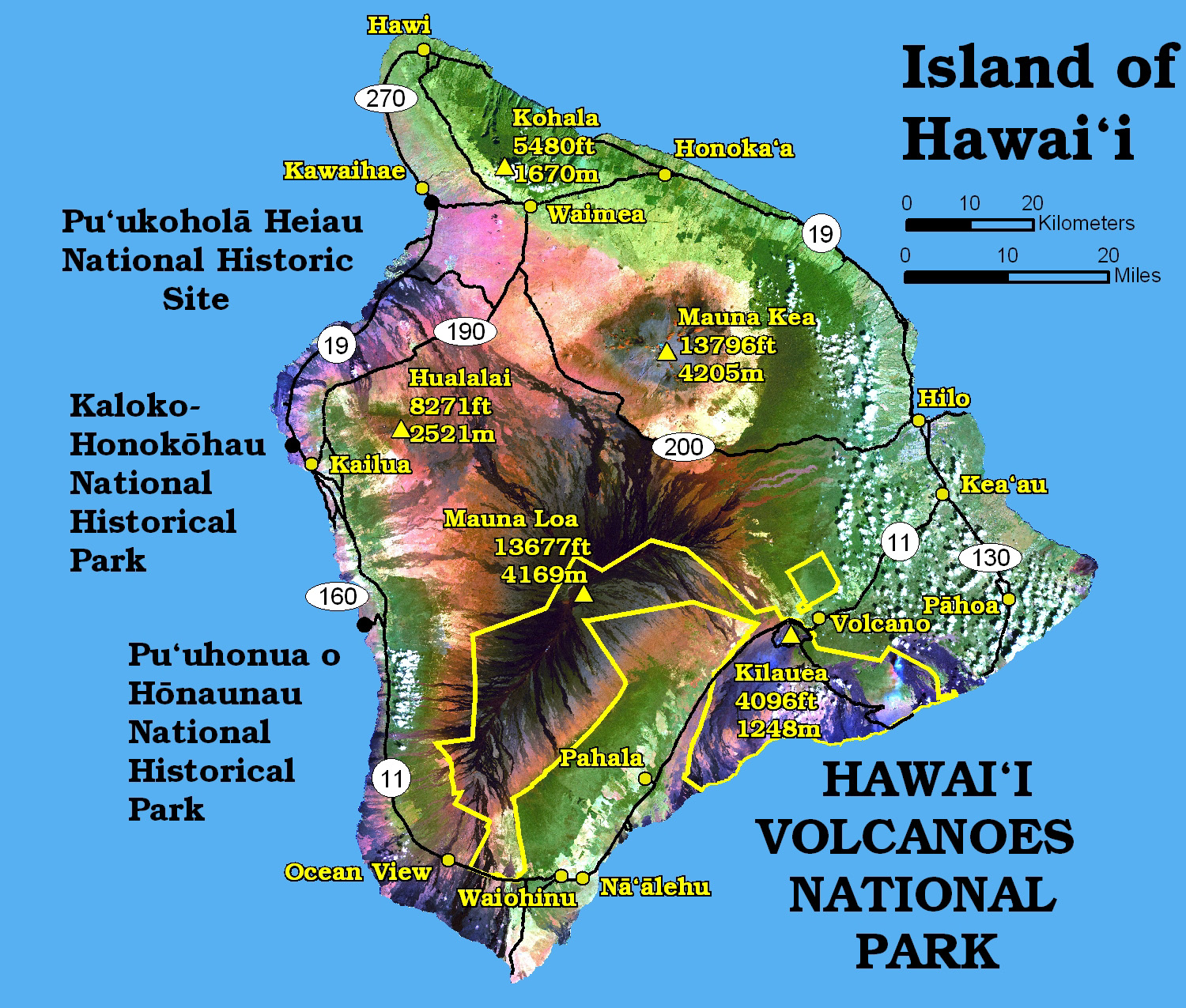 Maps Hawai I Volcanoes National Park U S National Park Service