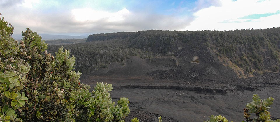 View of Kīlauea Iki from the Pu'u Pua'i Overlook