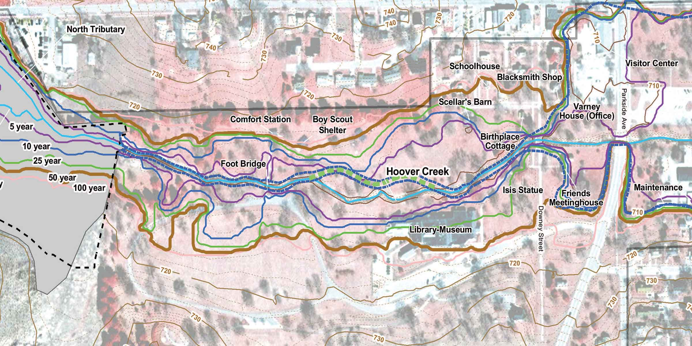 Hoover Creek Watershed Planning US National Park Service - Colorful map of watersheds in us