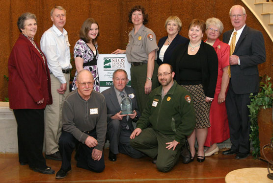 Park staff, volunteers, and partners receive an award.
