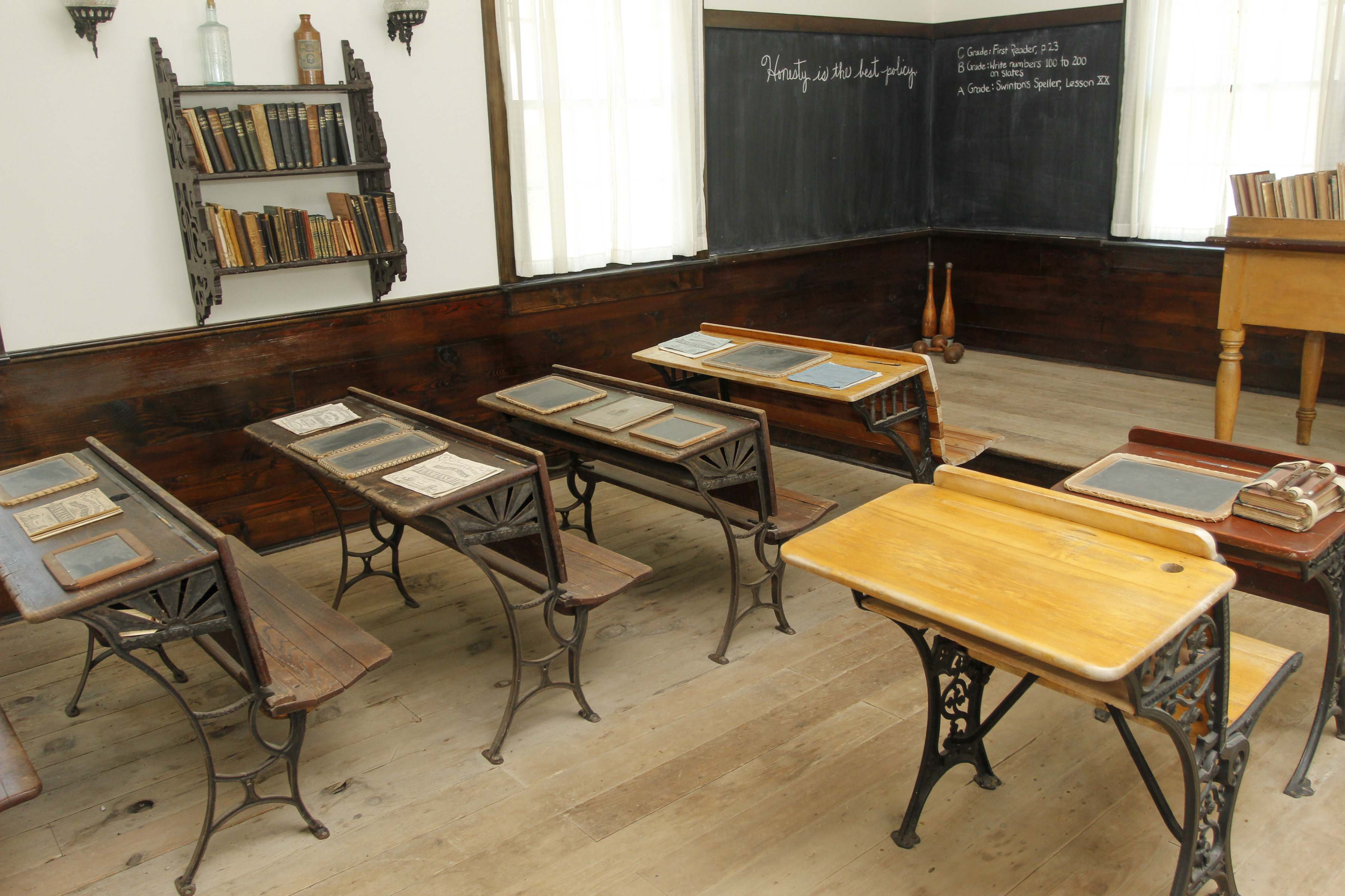 Inside the one-room schoolhouse