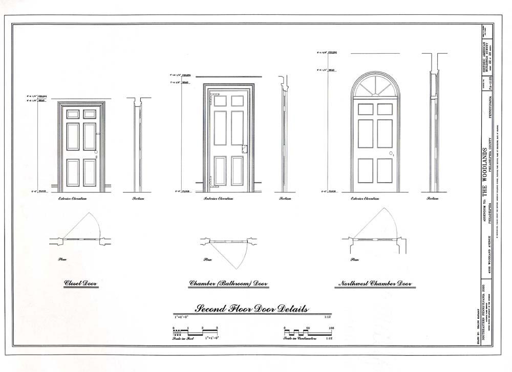 Elevation Plan Door : Heritage documentation programs habs haer hals crgis