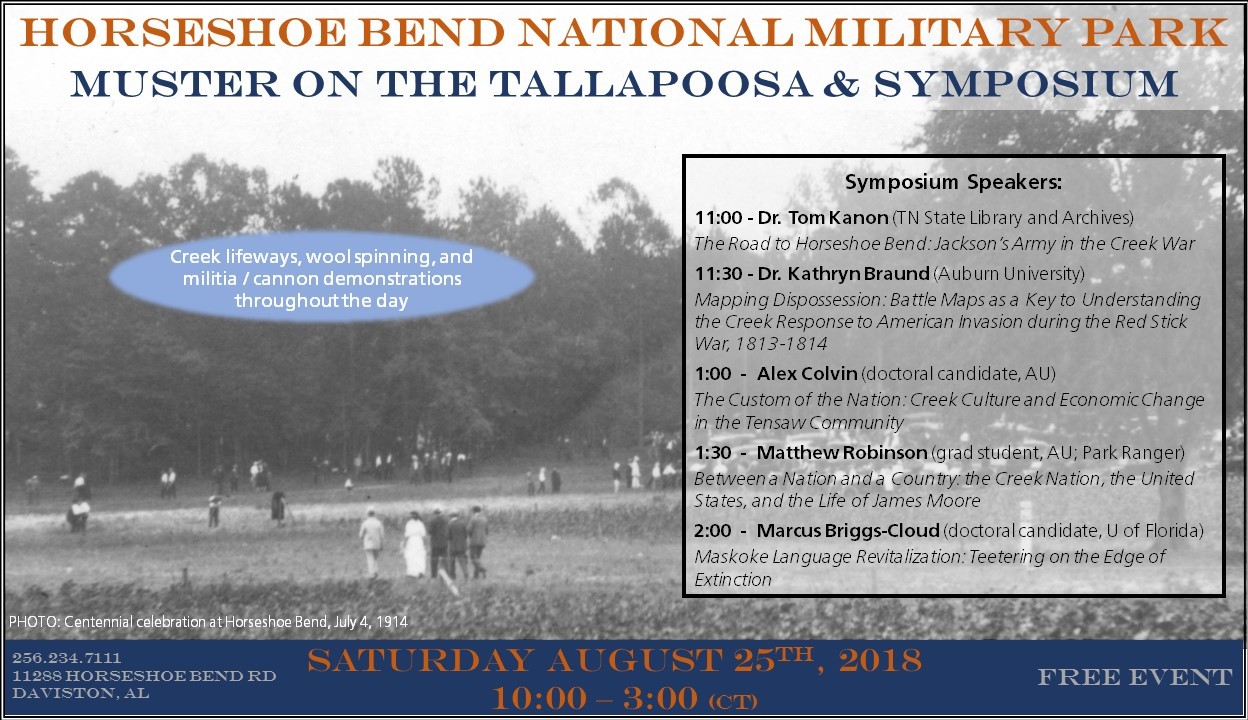 flyer for muster pn the tallapoosa and symposium event august 25th 2018 - Flyer Muster