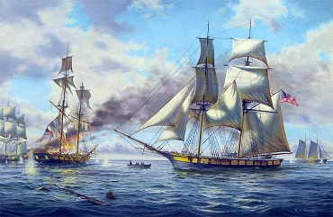 Painting of the Battle of Lake Erie