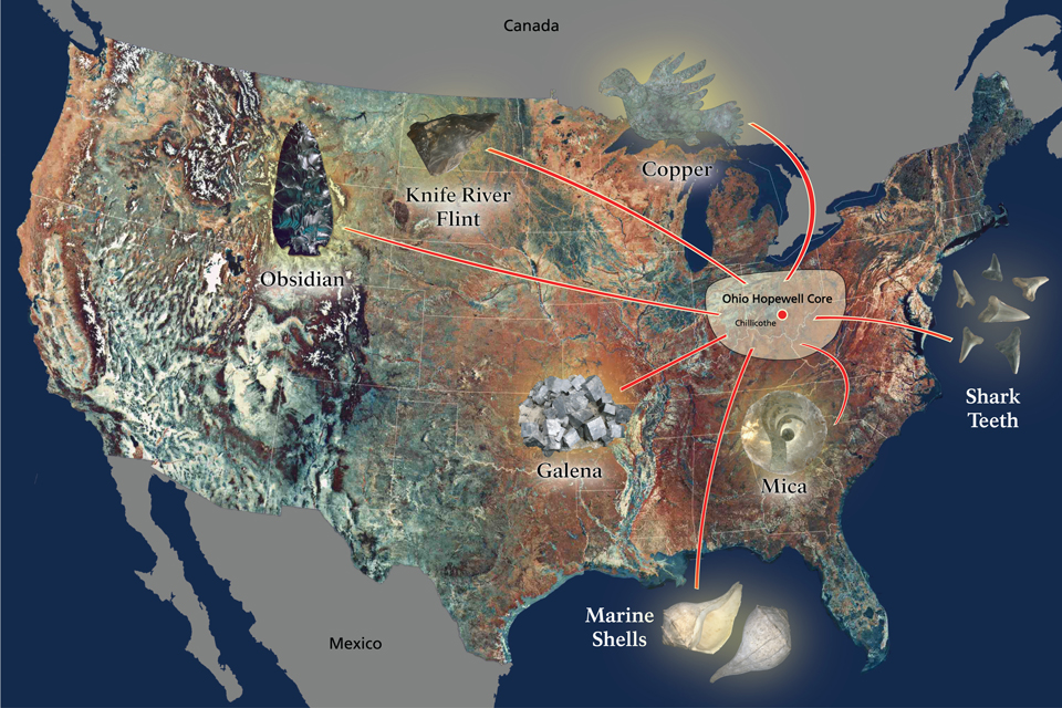 Map Of Continental U S With Artifacts On The Approximate Location Of Where They Were Originally Located