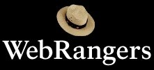 WebRangers letters with a flat hat above the words.