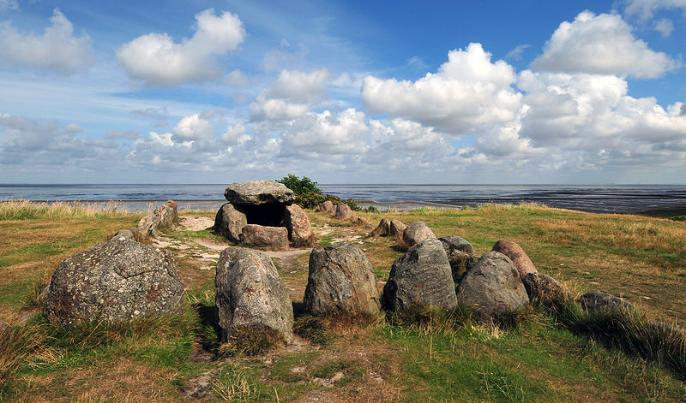 Megalithic grave in Keitum, Sylt, Germany