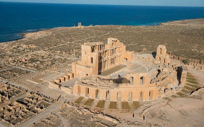 Leptis-theatre, Roman ruins in Lybia